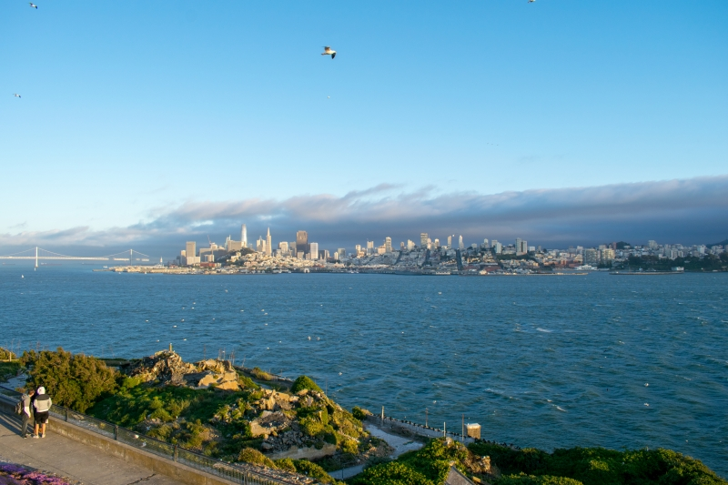 Alcatraz Island, Sicht auf San Francisco
