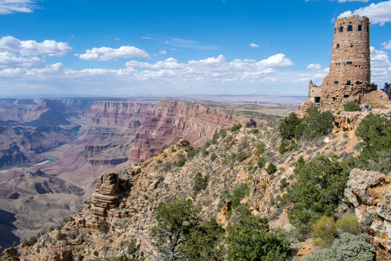 Desert View Watchtower am Südrand des Grand Canyon