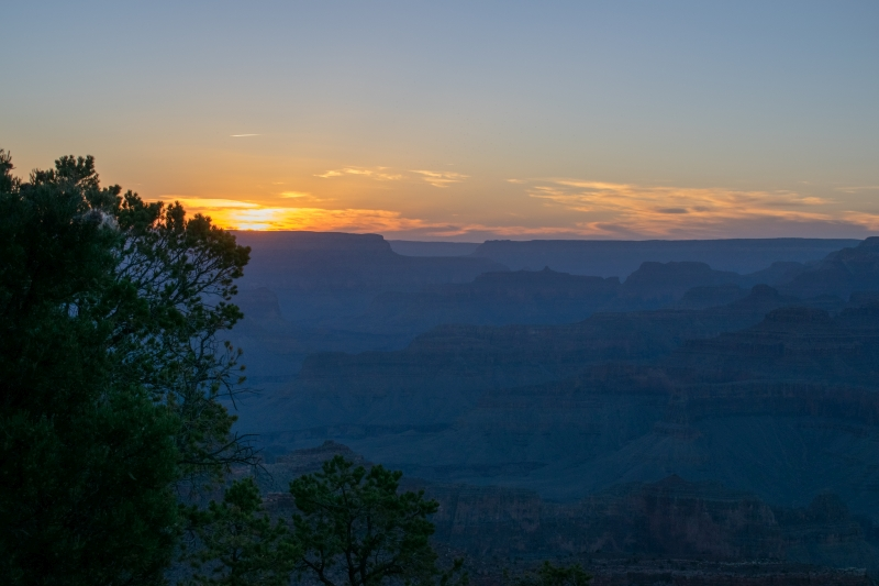 Sonnenuntergang am Yavapai Point