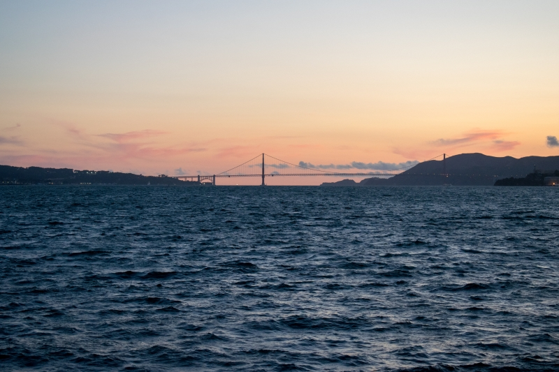 Golden Gate Bridge, fotografiert von Treasure Island