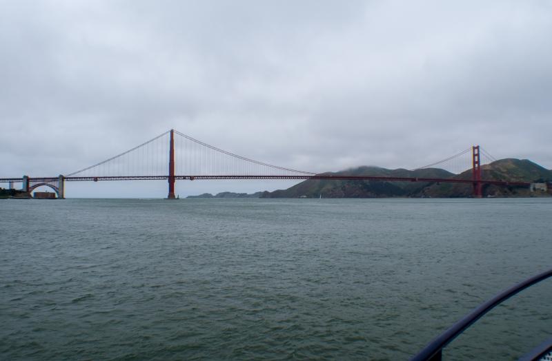 Golden Gate Bridge, fotografiert auf einem Schiff der Blue Gold Fleet