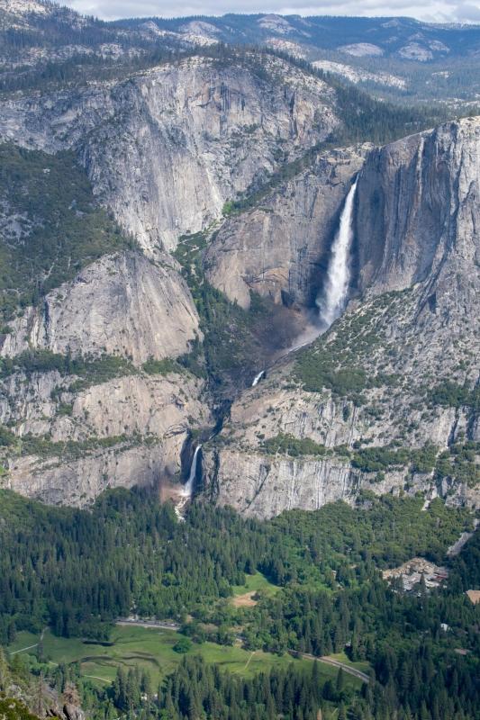 Yosemite Falls, fotografiert vom Glacier Point