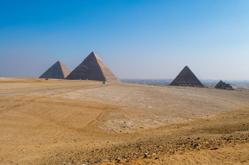 Panoramapunkt bei den Pyramiden von Gizeh
