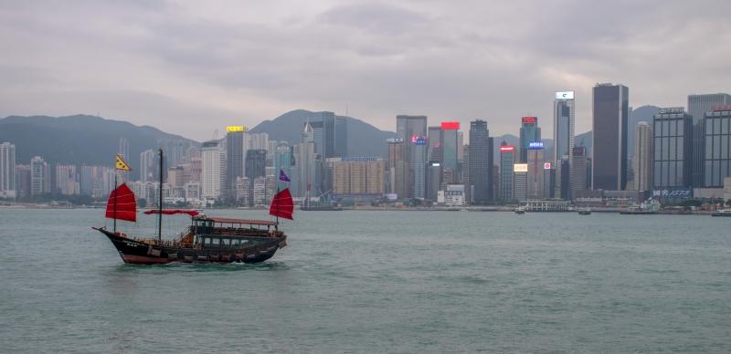 Die Skyline von Hongkong