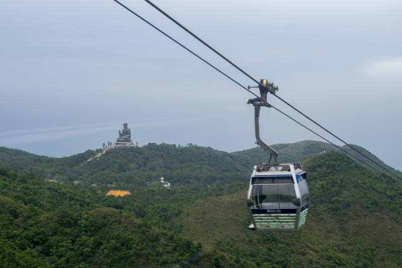 Ngong Ping 360 Cable Car (Sicht auf den Tian Tan Buddha)