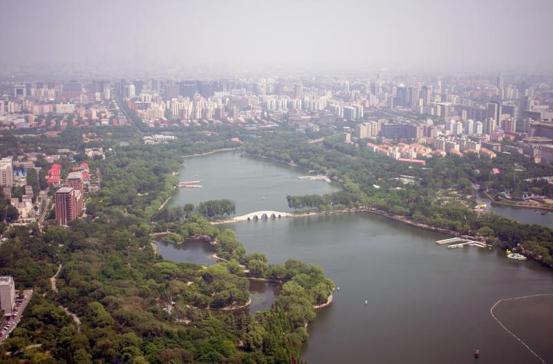 Central Television Tower (Aussicht auf den Yuyuantan Park)