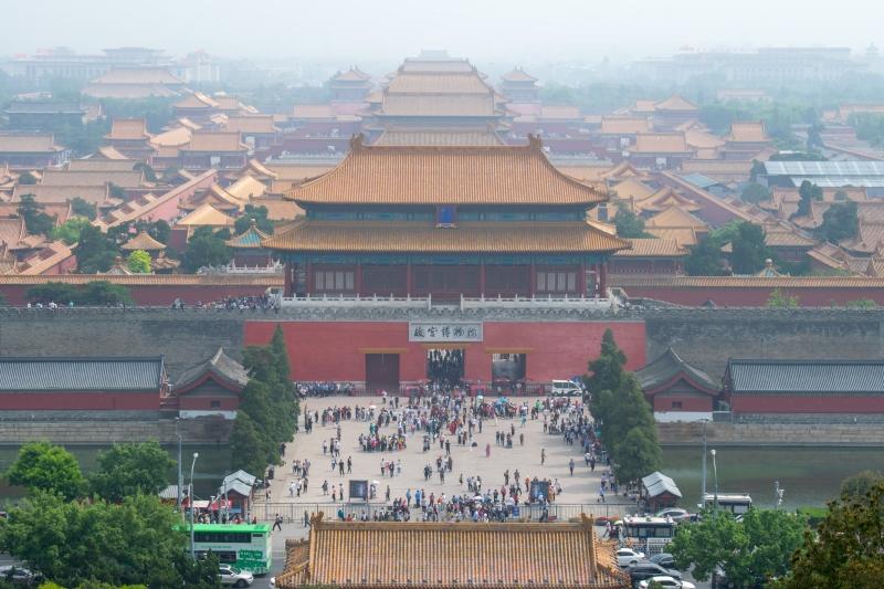 Aussicht vom Jingshan Park (Verbotene Stadt, Peking)