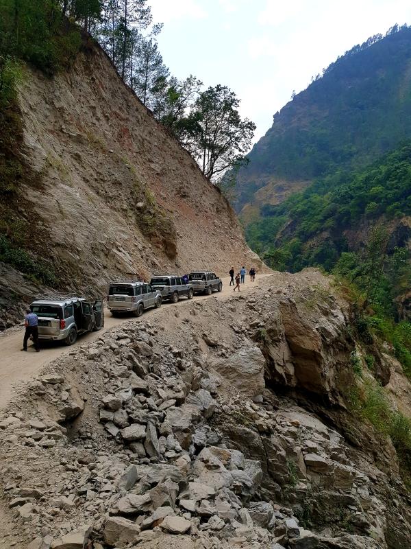 Auf dem Weg nach Kathmandu  (Nepal)