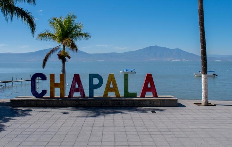 Chapala - solche Ortsschilder findet man in ganz Mexiko