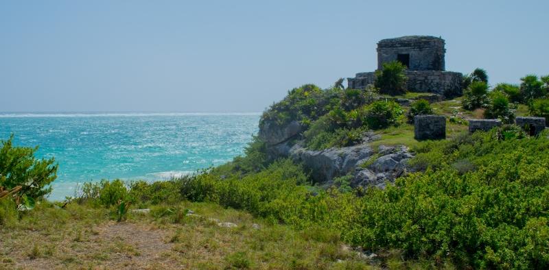 Maya-Ruinen in Tulum (Tempel des Windes)